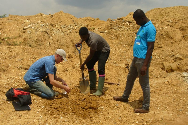 Atewa-Taking-soil-samples-to-analyses-the-current-condition